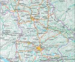 Orli Hnizdo Mapa Nemecka Berchtesgaden Bavorska Saska