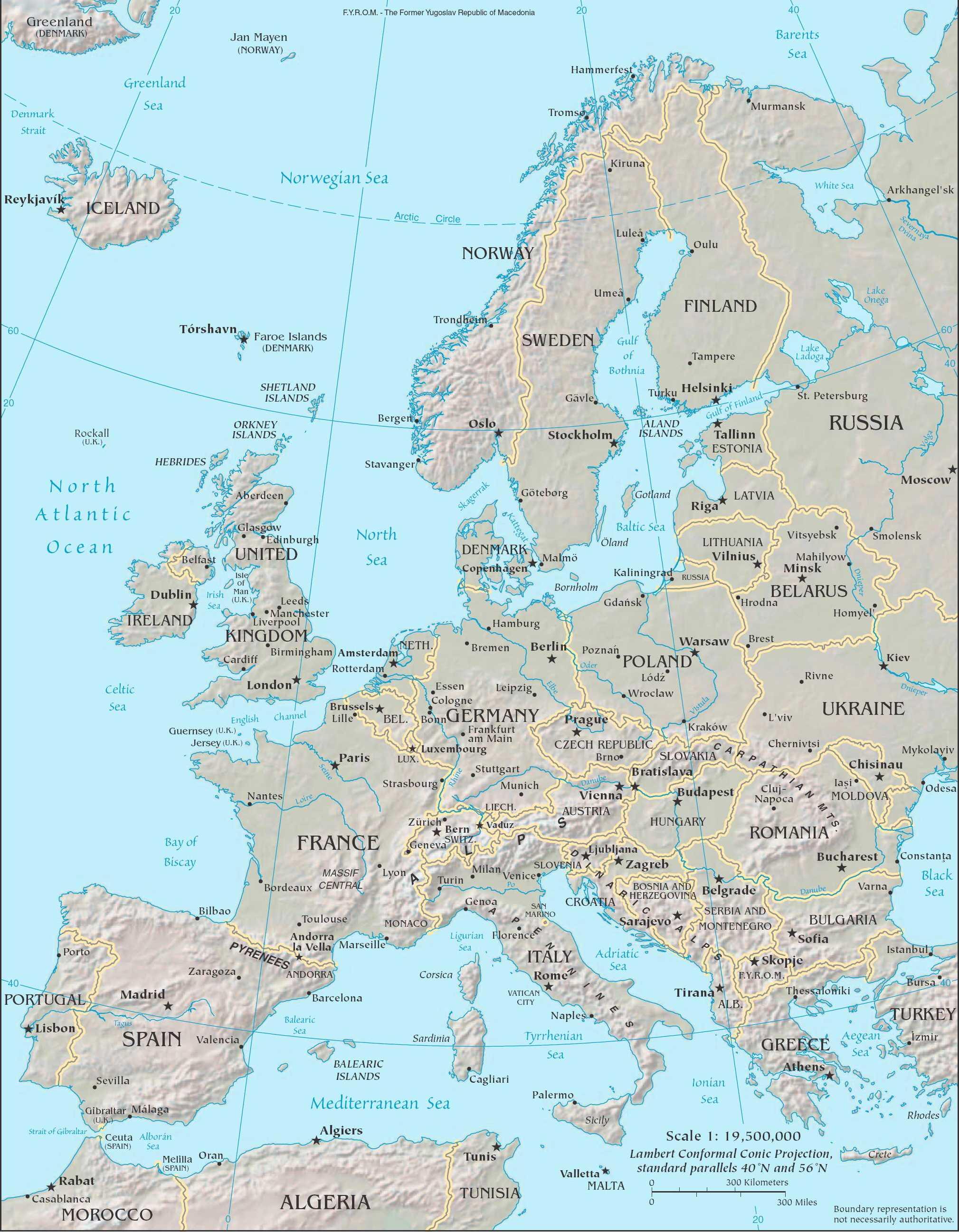 Karta Europe Online Karta