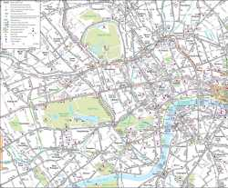 Londýn,autobusová mapa Londýna,London,bus map of London