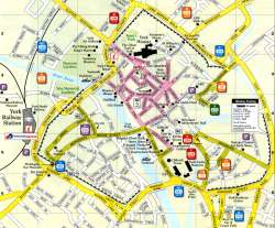 York,mapa Yorku,York,map of York