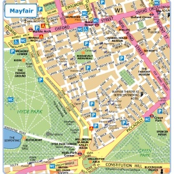 London Mayfair,Londýn,mapa Londýna Mayfair,map of London