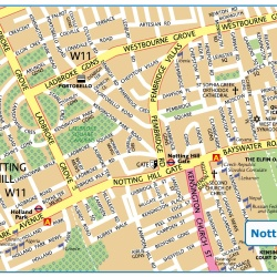 London Notting Hill,Londýn,mapa Londýna Notting Hill,map of London