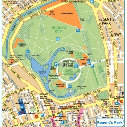 London Regents Park,Londýn,mapa Londýna Regents Park,map of London