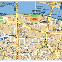 London South Bank,Londýn,mapa Londýna South Bank,map of London