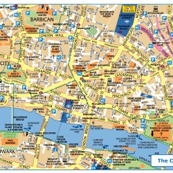 London City,Londýn,mapa Londýna City,map of London