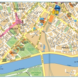 London Victoria,Londýn,mapa Londýna Victoria,map of London